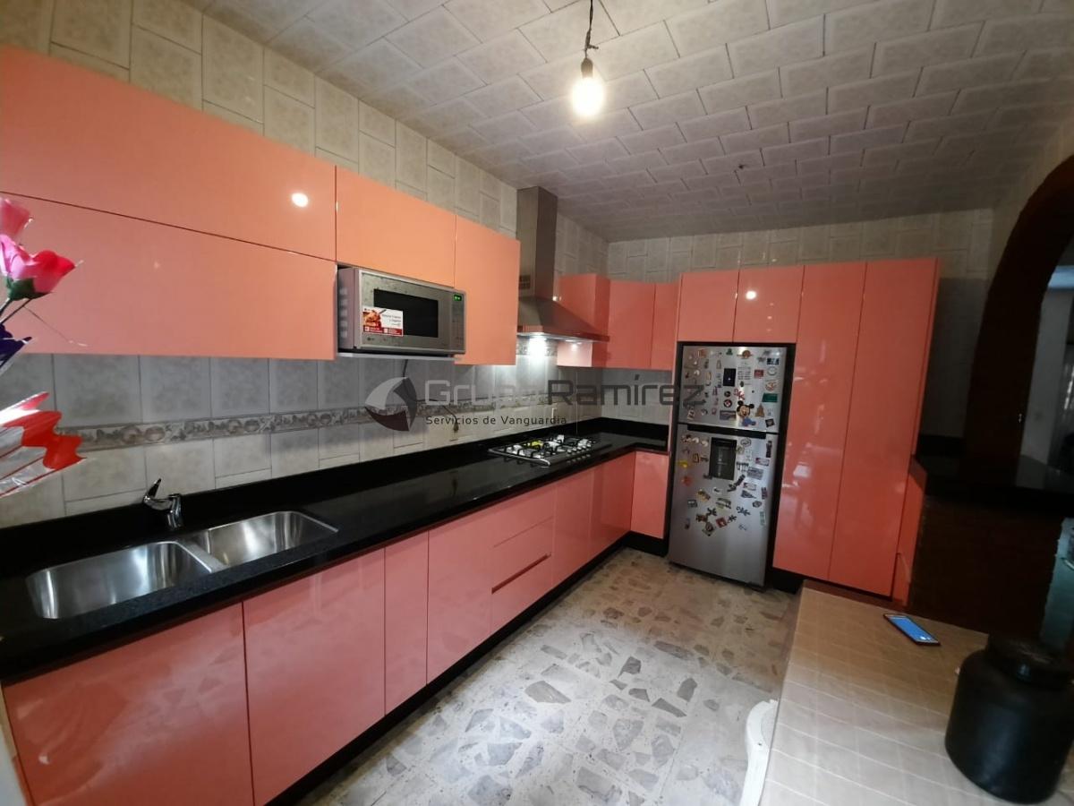 Cocina Integral Alto Brillos rosa gran angular